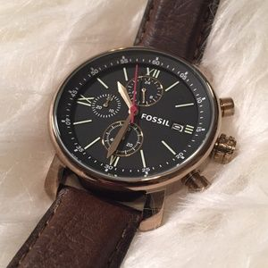 Fossil Brown Leather Men's Chrono Watch